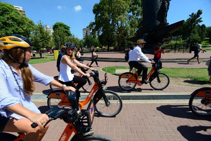 El 4% de las personas que se mueven por la Ciudad, lo hacen en Ecobici. Foto: Luciano Thieberger