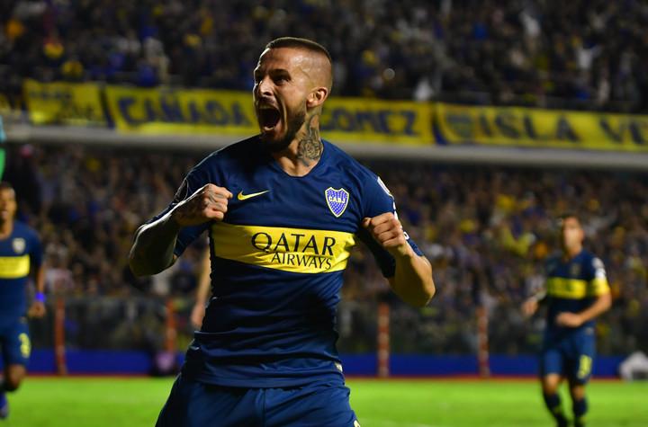 Su último gol ante el Tolima, por la Copa. Pero no la viene metiendo seguido.